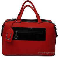 Женская сумка-саквояж с лаковой отделкой, фото 1