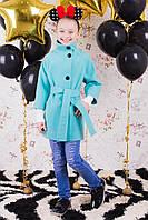 Демисезонное пальто для девочек весна-осень, кашемир,  размеры 122,128,134,140, 146, 152 см