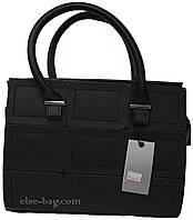 Женская сумочка с отделкой из эко кожи