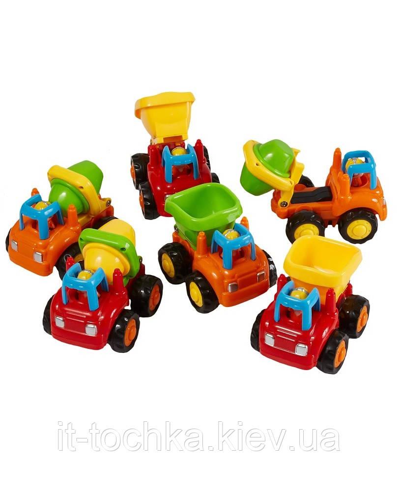Купить Набор инерционных машинок Грузовичок и бетономешалка 6 штук hola toys 326cd, Huile Toys