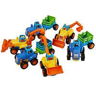 Детская машинка huile toys 326ab Спецмашина Трактор Бульдозер