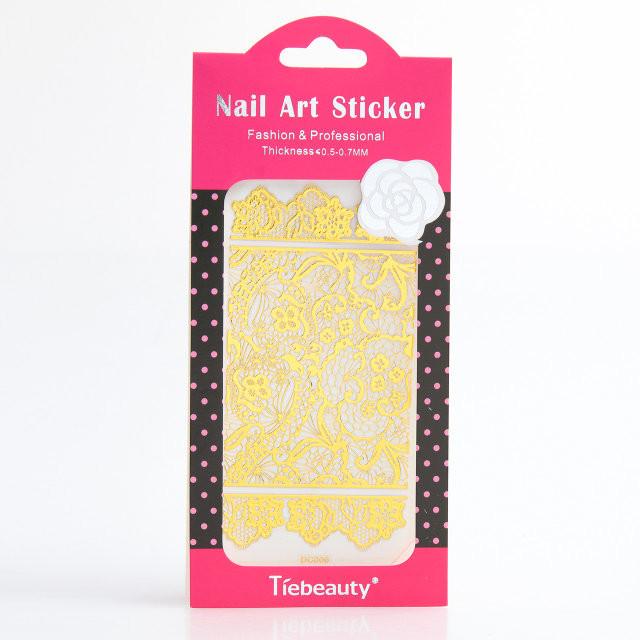 Кружево золото для дизайна ногтей