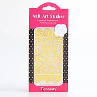 Кружево золото для дизайна ногтей, фото 1