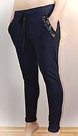Женские штаны, синие, трикотажные, фото 1