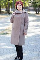 Пальто кашемировое большого размера ПК1-263 (р.54-60), фото 1