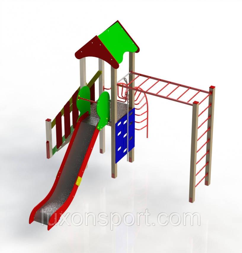 Однобашенный Спортивно-Игровой Комплекс LUXON SPORT KIDS HAPPY 01