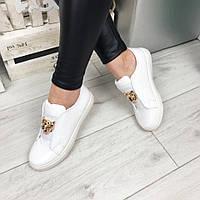 Женские слипоны PLEIN эко лак, белые / слипоны женские Плейн, подошва 3 см, модные 36
