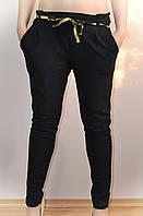 Женские брюки, черные, с карманами