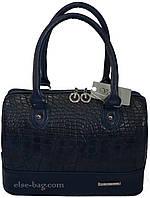 Синяя женская сумочка - бочонок