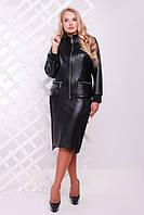 Женский черный костюм Милан   ТМ Таtiana 54-60  размеры