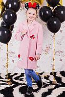 Демисезонное пальто для девочек весна-осень, букле,  размеры 134,140, 146, 152, 158,164 см