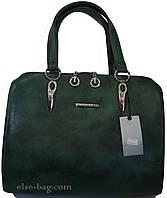 Каркасная женская  сумка с украшением из камней