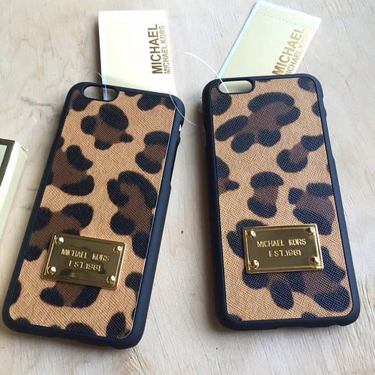 Чехол леопардовый Michael Kors для Iphone 6 6s