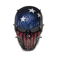 """Защитная маска для игры в страйкбол - """"Американский флаг"""""""