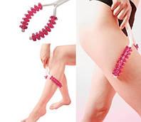 Массажёр ручной роликовый для ног, тела