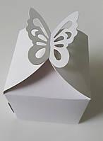 Коробка для капкейков / упаковка 10 шт 8.5см х 8.5см х 8.5см, Белый, 1 шт.