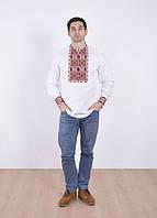 Мужская вышиванка, льняная рубашка, размеры: S, M,  L,  XL, XXL, ХXXL