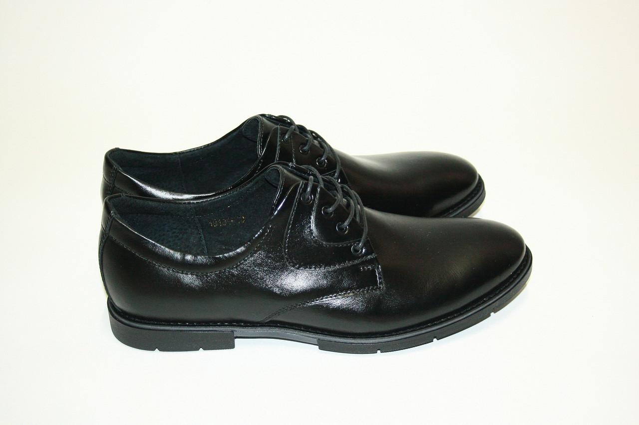 Классические черные мужские туфли  / 18130 boot