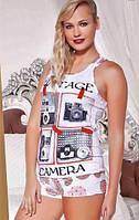 Комплект женского белья для сна (майка + шорты) Camera