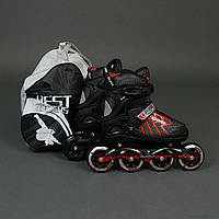 "Ролики 9015 ""M"" Red - Best Rollers /размер 35-38/ (6) колёса PU, без света, d=8.4см"