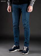 Джинсы мужские молодежные STFskinny stretch col. 6 синие (модные, зауженные)