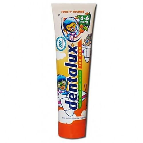 Дитяча зубна паста dentalux  fruity orange 100 мл