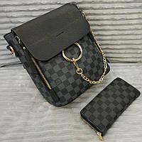 Женский брендовый рюкзак Louis Vuitton Луи Виттон черный