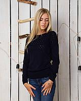 Повседневный свитер, с ажурным узором