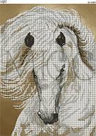 """Схема для вышивки бисером """"Бежевая лошадь"""""""