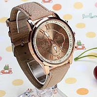 Наручные часы Geneva platinum бежевые, фото 1