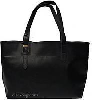 Черная женская сумка из эко кожи