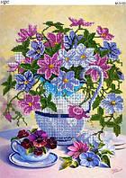 """Схема для вышивки бисером """"Цветы"""""""