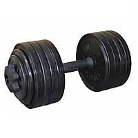 Гантель InterAtletika разборная черная 23,82 кг (СТ 530.25)
