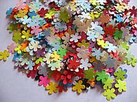 Набор высечек из бумаги, 190 штук .Цветочки 9 мм