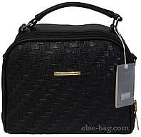 Черная мягка сумка через плечо