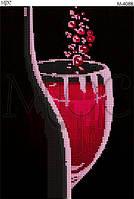 """Схема для вышивки бисером """"Бокал вина"""""""