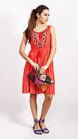 Платье женское кораллового цвета из новой коллекции