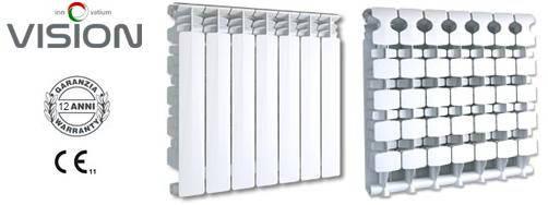 Радиатор алюминиевый Fondital Vision 500*10 Алюминиевый радиатор, фото 2