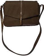 Женская сумка через плечо цвета хаки