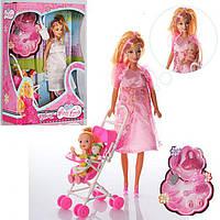 Кукла  беременная  пупсик ,коляска ,аксессуары 88076-1
