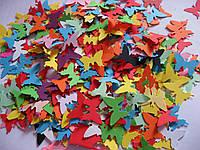 Высечка из бумаги. Бабочки, 50 штук