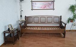 """Деревянный диван кровать """"Ян Марти - 3"""". Массив дерева - ольха, покрытие - """"лесной орех"""" (№ 44). 2"""