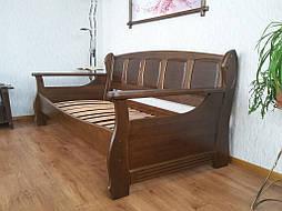 """Деревянный диван кровать """"Ян Марти - 3"""". Массив дерева - ольха, покрытие - """"лесной орех"""" (№ 44). 4"""