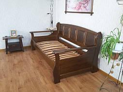 """Деревянный диван кровать """"Ян Марти - 3"""". Массив дерева - ольха, покрытие - """"лесной орех"""" (№ 44). 6"""