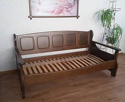 """Деревянный диван кровать """"Ян Марти - 3"""". Массив дерева - ольха, покрытие - """"лесной орех"""" (№ 44). 7"""