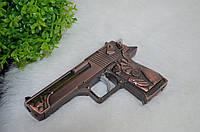 """Оригинальна зажигалка  """"Пистолет"""" с лазером."""