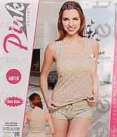 Женский комплект майка+шорты Турция PinkSecret 4018. Размер 44-46.