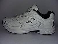 Кожаные мужские кроссовки VEER белые