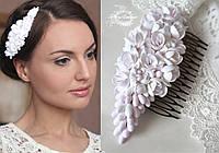 """Свадебный гребень для волос """"Бело-розовые фрезии"""", фото 1"""