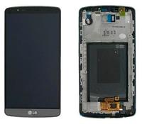 Дисплей (экран) для LG D690 G3 Stylus + с сенсором (тачскрином) и рамкой серый